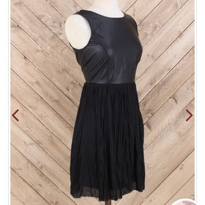 LBD- Faux leather•Fit & Flare